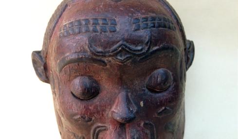 Lulua Congo Maschera Casco Legno