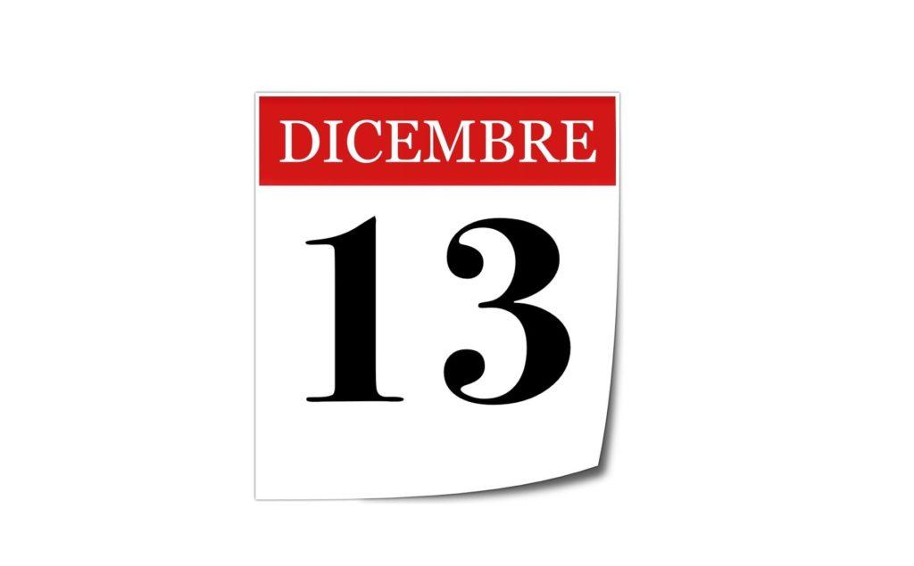 Ricorrenza Santa Lucia: 13 Dicembre