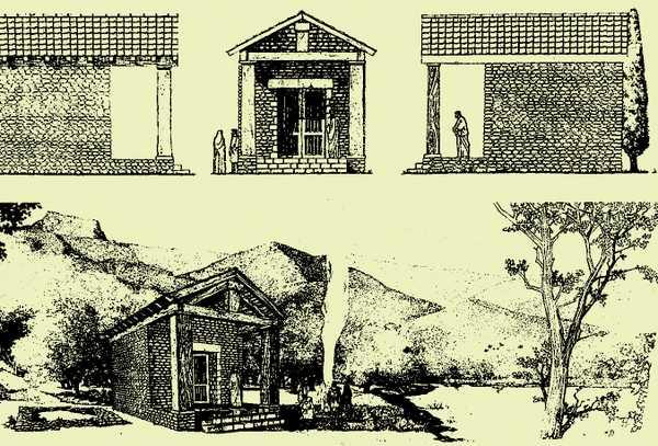 Un dibujo de una casa Descripción generada automáticamente