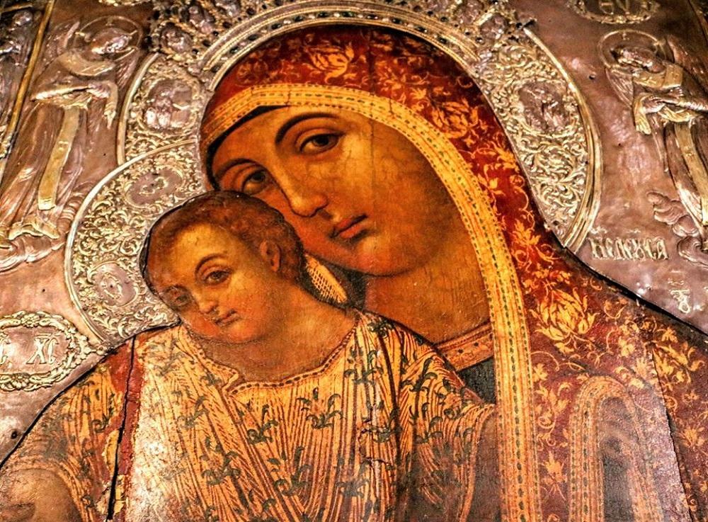 IEPA MONH KYKKOY, l'icona della Panagià Kykkiotissa, Santuario di Kykkos, Cipro. Michele Santangelo Ph.ALT