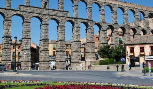 Detalle del Acueducto de Segovia